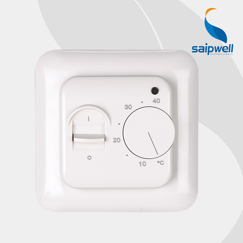 Saipwell Floor heating Thermostat, Room Thermostat ,Mechanical Thermostat with 3m Sensor SP-6000 High Quality