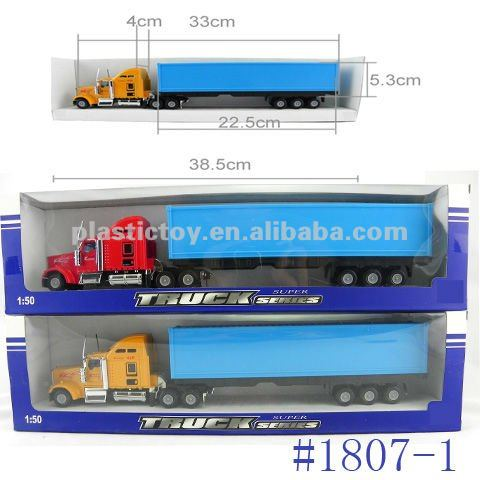 1:50 Plastic advertising container truck toy 1807-1
