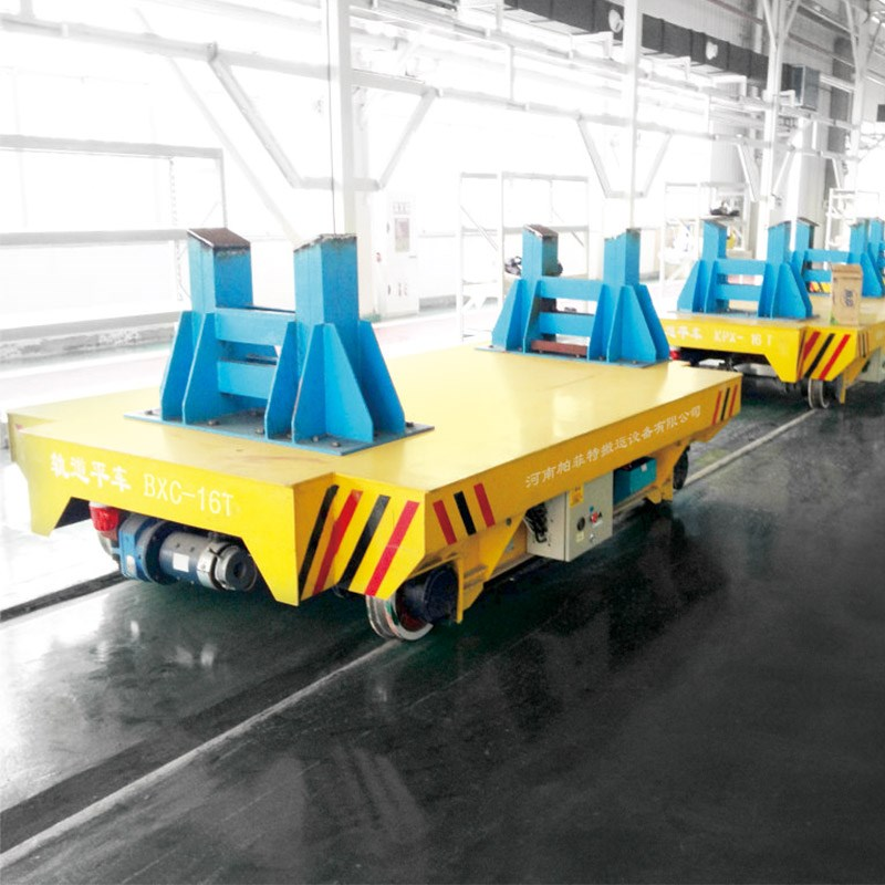 30ton Interbay Motorized Transfer Trolley On Rails For Material Hanling