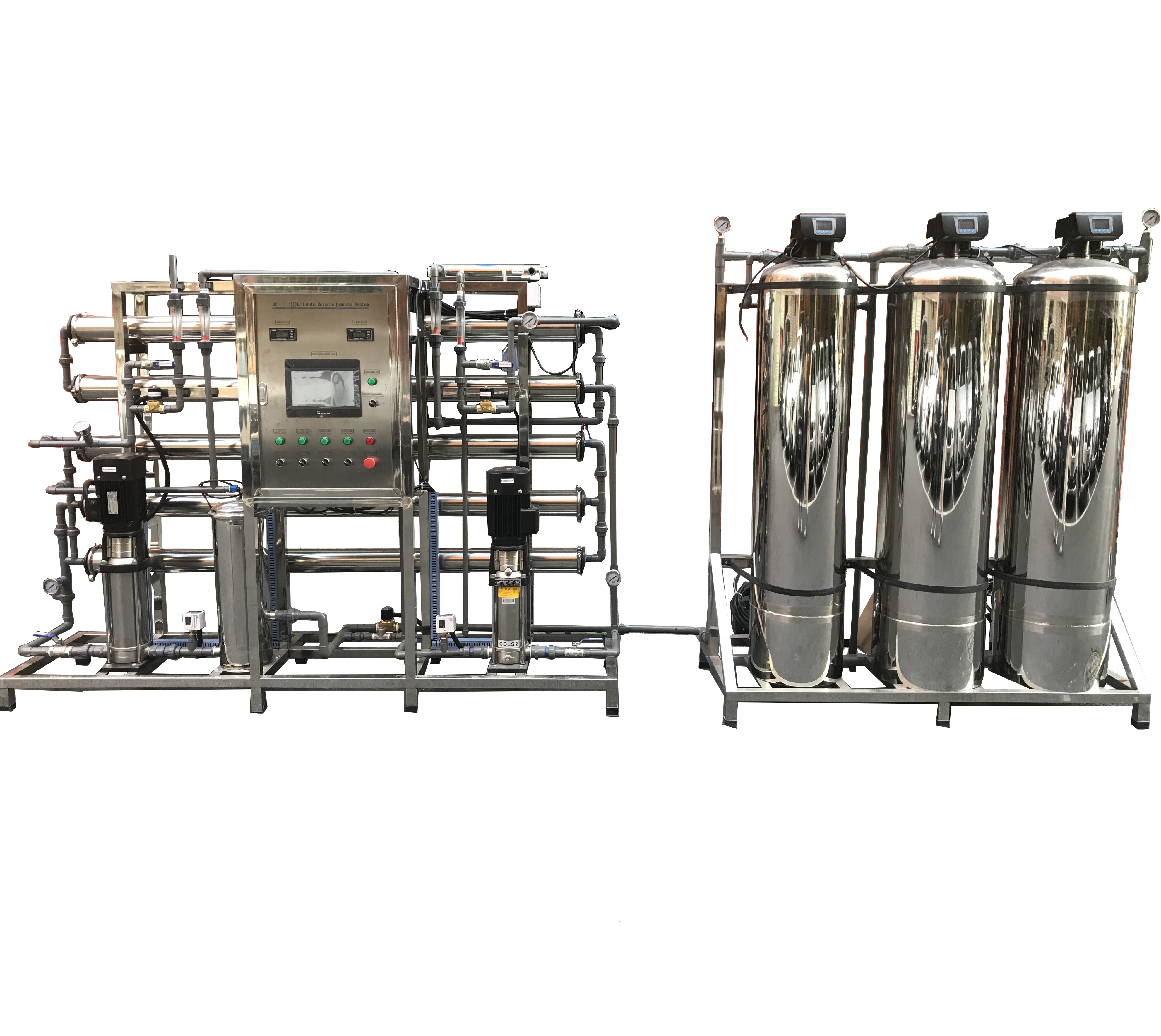 d304665cb42 Factory Price Stainless Steel Tank Two Stage Reverse Osmosis Mineral Water  Treatment Plant - Buy Mineral Water Plant