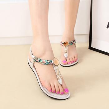 0b6bece2f6b2 SAA3362 últimas muchachas del verano Tanga sandalia zapatos de lujo  rhinestone coreano señoras flip flops sandalias