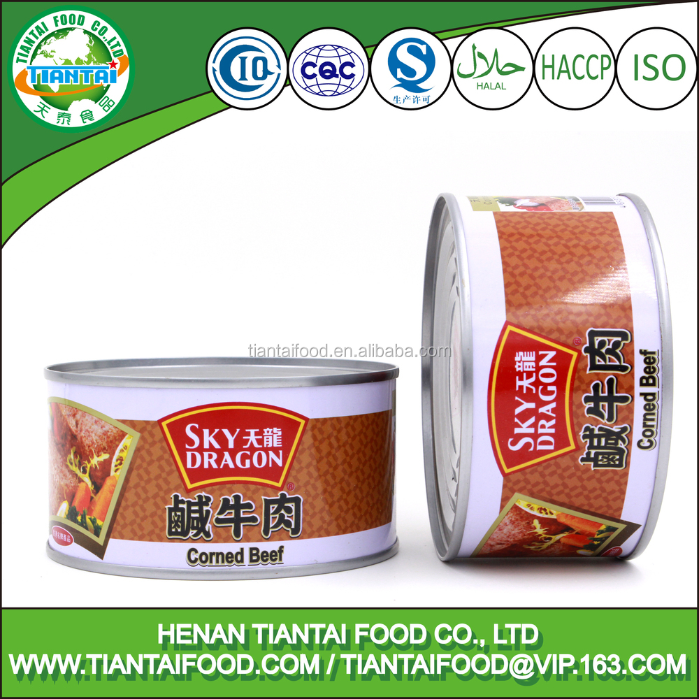 340g Premium Canned Food Street Sale Corned Beef Meat