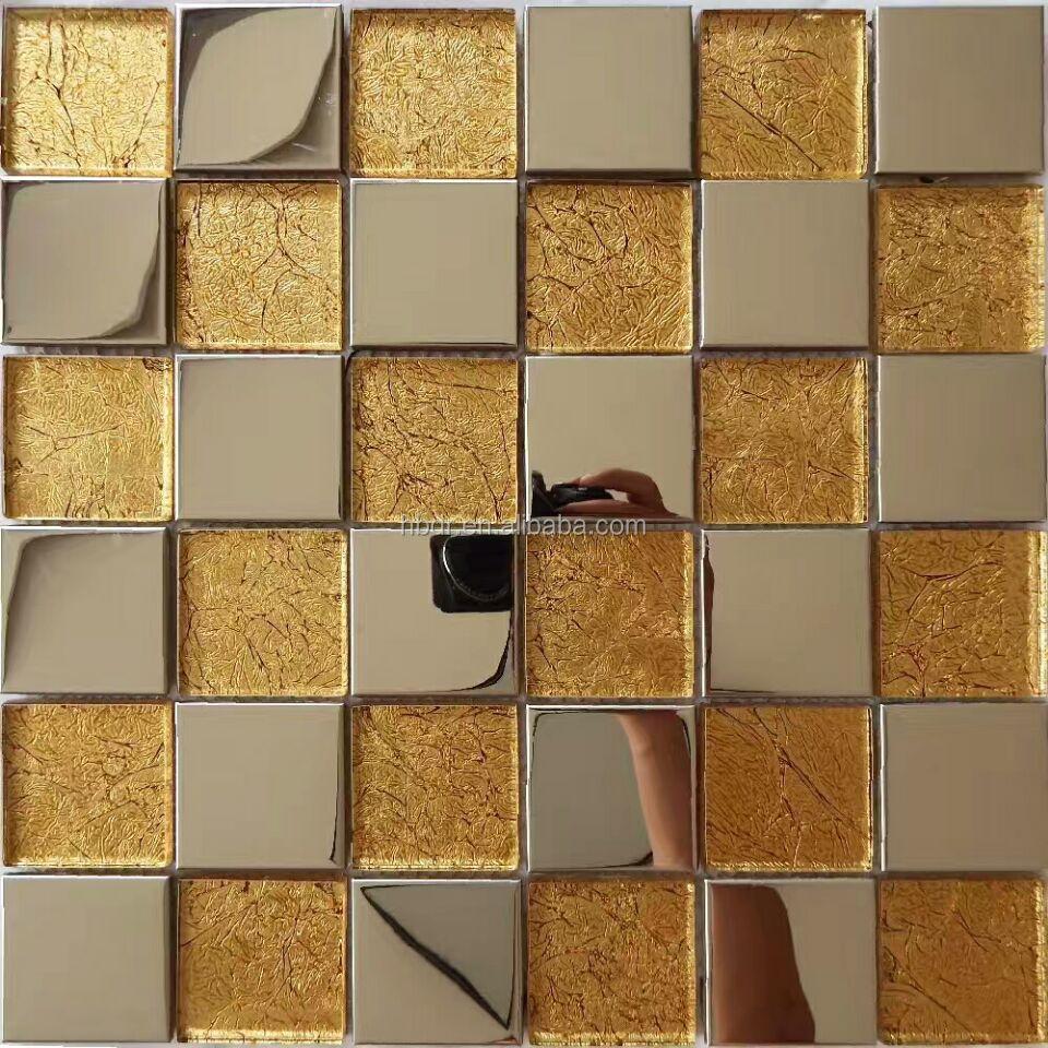 Wholesale Luxury Mosaic Tiles Gold Glass Mosaic Tile - Buy Gold ...