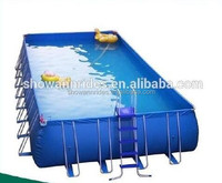 2016 new product outdoor steel frame swimming pool with factory price