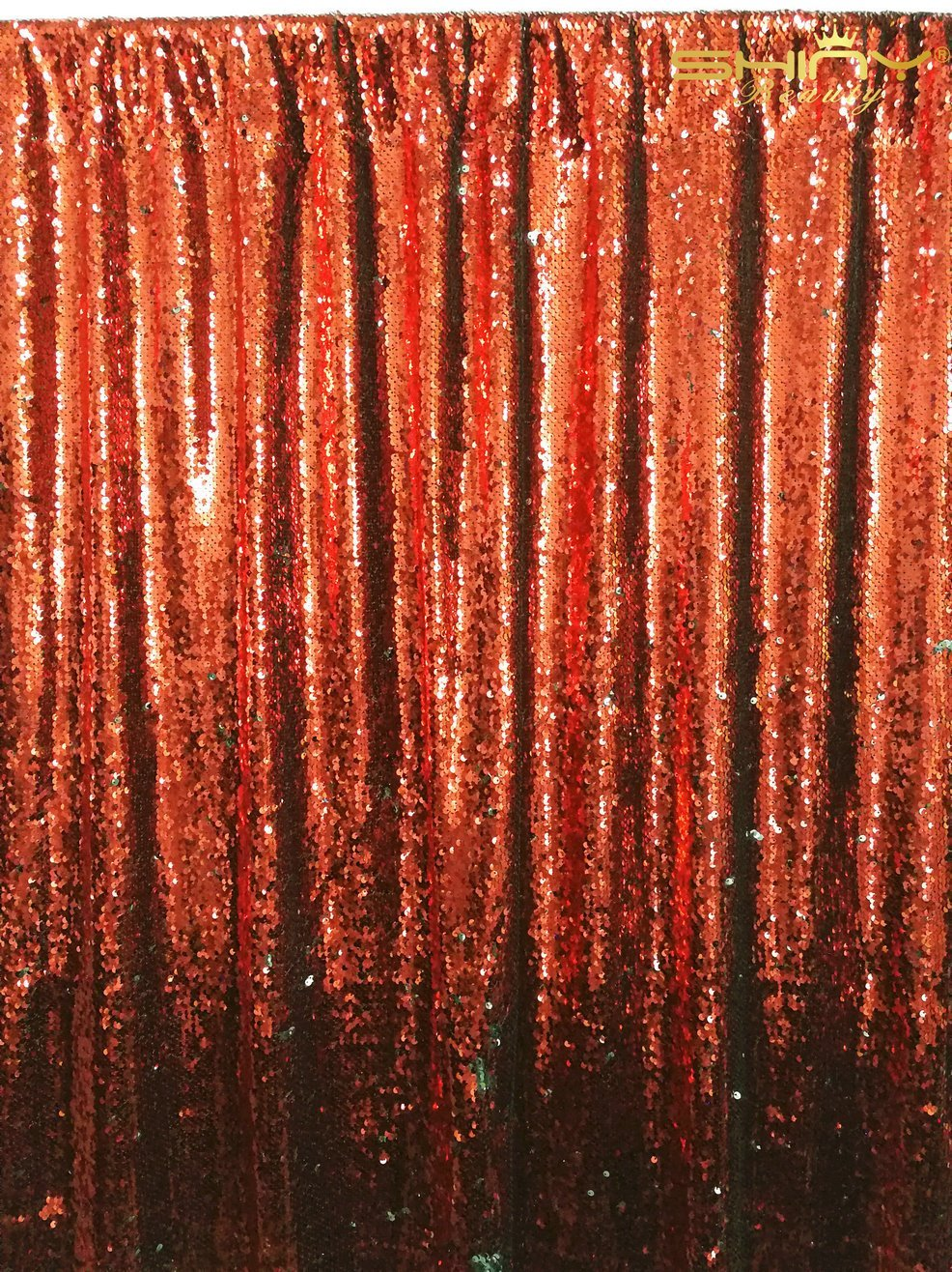 ShinyBeauty Reversible-Sequin Backdrop-Red&Silver-4FTx6FT,Mermaid Sequin Backdrops for Photography,Reversible Curtain For Backdrop,Glitz Backdrop