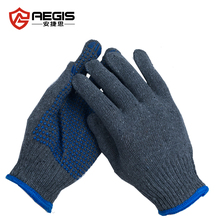 PVC dotted safety knitted hand working gloves