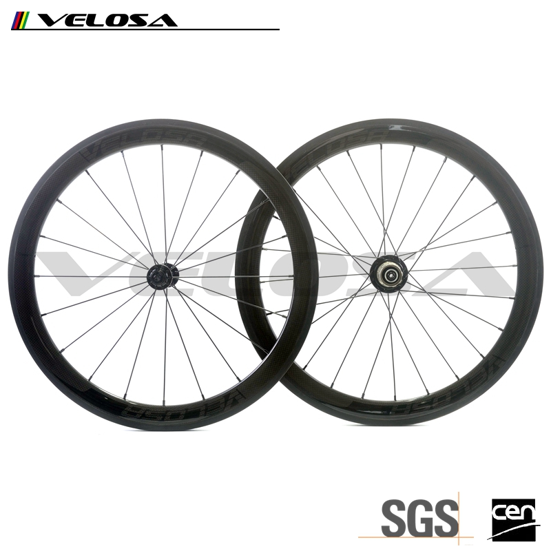 "451 Carbon Fiber 38mm/50mm depth 20/24 Wheels V Brake For 20"" Folding Bike BMX Road Bike rims with Novatec or Powerway hub"