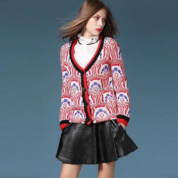 2017 Cashmere Wool Circular Pattern Winter Sweater Women Coats China