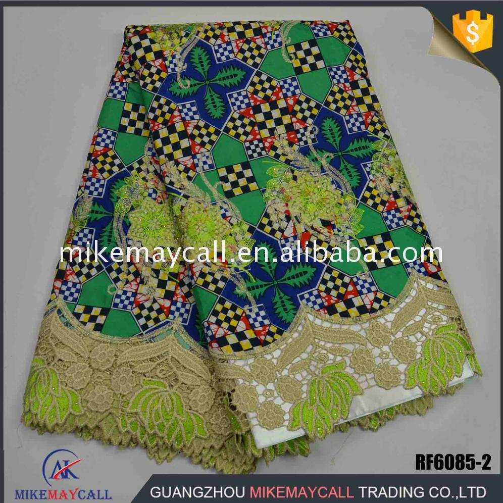net lace mix wax print fabrics french with best quality and low price