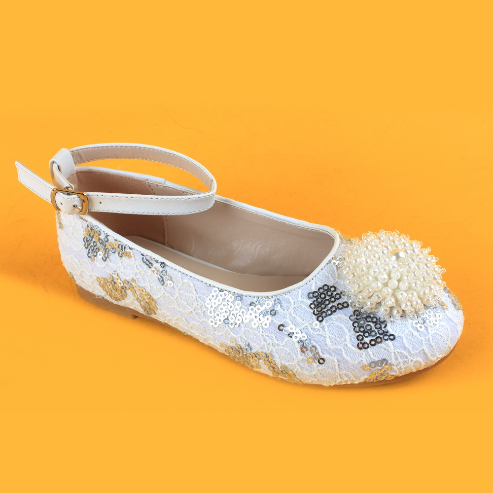 girls white lace ankle strap flats casual party sparkly shoes for girls 47ea445e2e5e