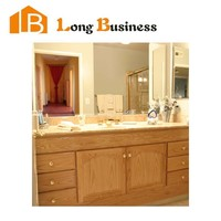 LB-JL2253 Germany popular high glossy freestanding solid wooden bathroom vanity