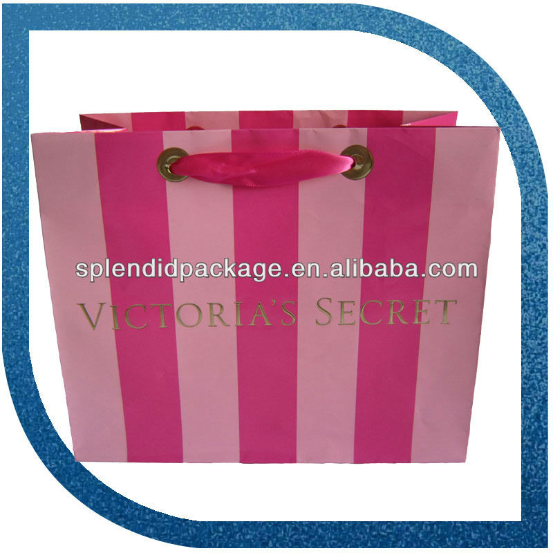2016 deluxe brand laminated gift paper bag