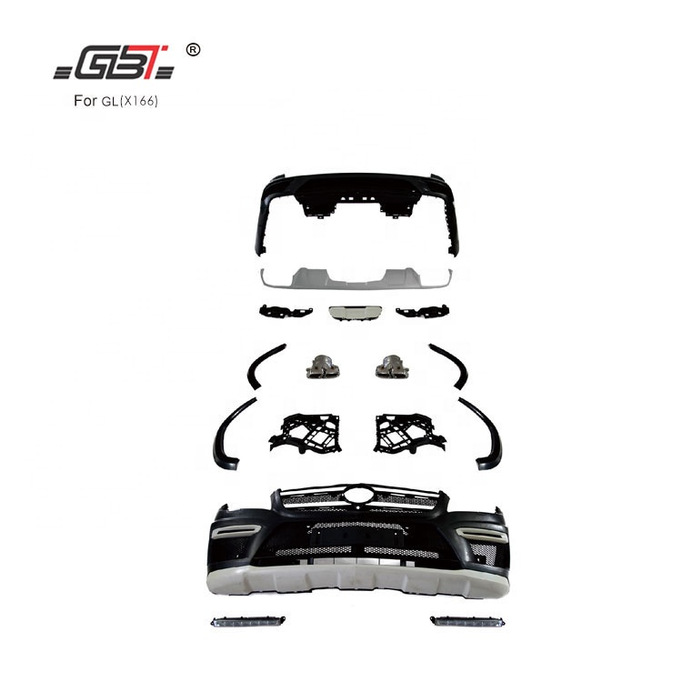 GBT Restyling body kit auto parts upgrade GL300,GL350/material PP from factory year 2012-on For Mercedes Benz GL X166