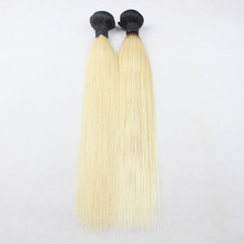 Wholesale Brazilian ombre 1b/27 1b/613 color ombre brazillian virgin hair bundles with closure