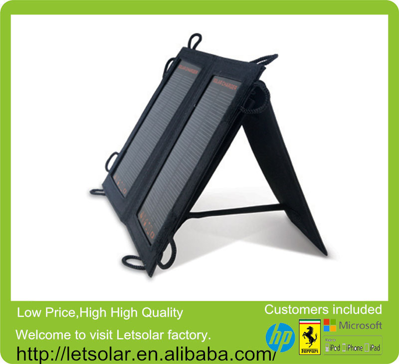 2014 new 140w folding solar panels for Phone and iPad directly under the sunshine