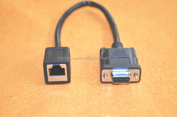 db9f - rj45 modular serial adapter straight wiring for db9 serial ethernet  switch/router connections