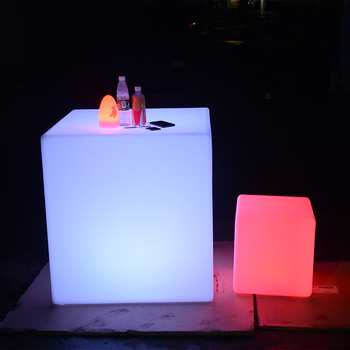 Luxury Led Cube Garden Furniture/Changing Led Cube Sales Promotion/Led Cube Table And Seat Led Cube Table And Seat