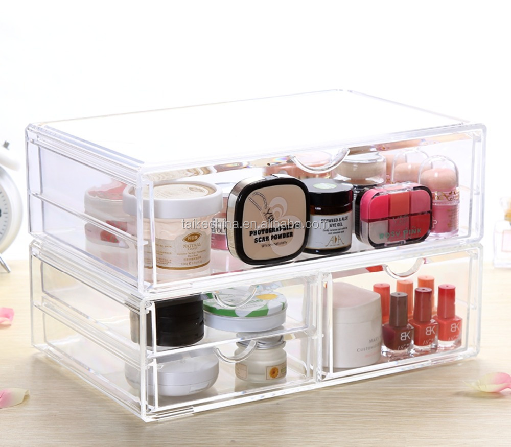 Acrylic clear Cosmetic sundries home makeup receive box