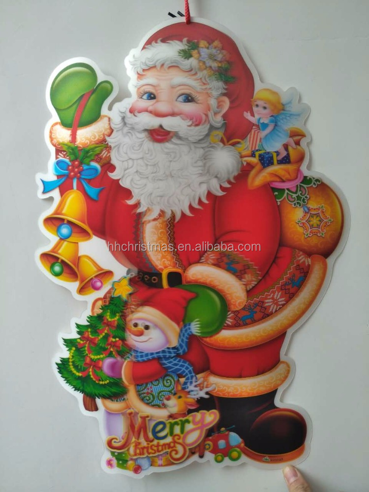 3D removable sticker giant christmas santa claus