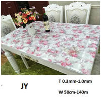 Clear Transparent Glitter PVC Vinyl Wipe Clean Tablecloth Table Cover