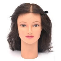 Cheap makeup practice head hairdressing dolls cosmetology mannequin heads hair styling mannequins
