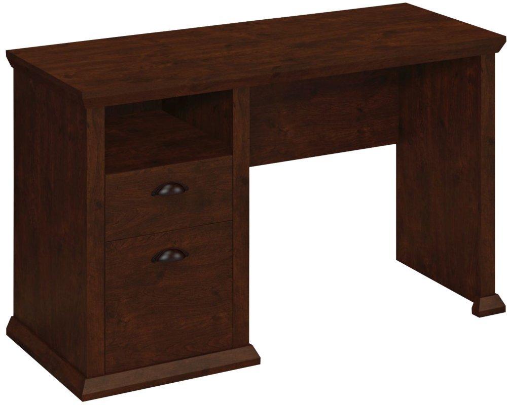 Bush Furniture Yorktown Home Office Desk in Antique Cherry