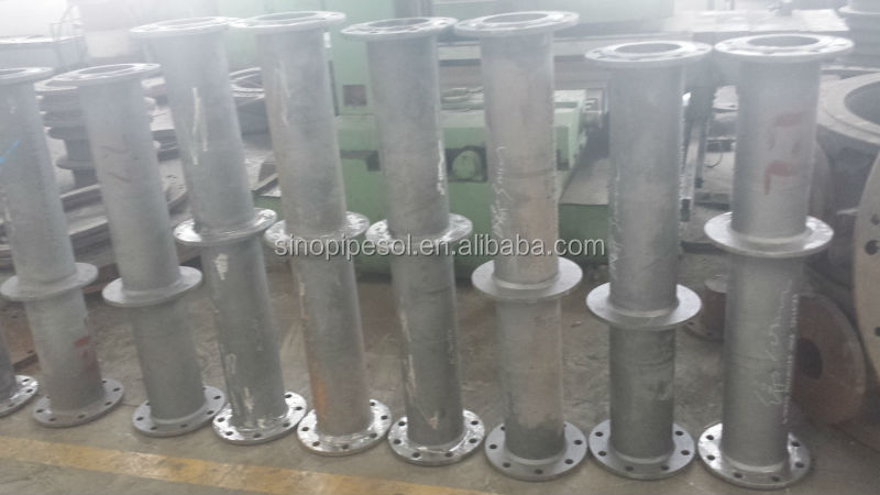 Double flange straight pipe