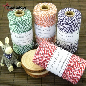 Red And White Soft Organic Flat Binding Twine