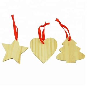 China Art Supplies Thin Wooden Craft DIY Painting Slices for Wedding Party Christmas Decoration Included Heat Star Tree Shape