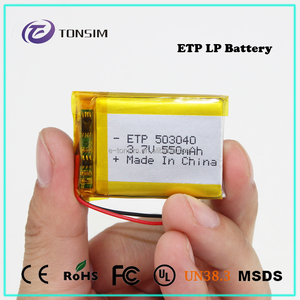 Hot selling Lithuim Battery Pack 3.7v 550mAh Rapid Charge Battery Customized Lipo 3.7v Battery