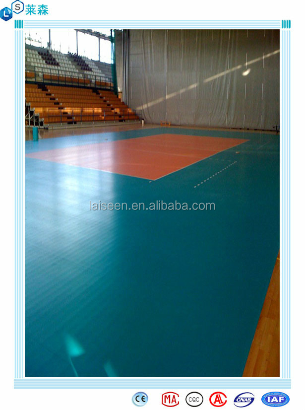 High quality special offer Plastic Indoor PVC Volleyball court flooring
