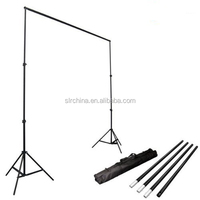 Studio Photo Video Studio 10Ft Adjustable Muslin Background Backdrop Support System Stand