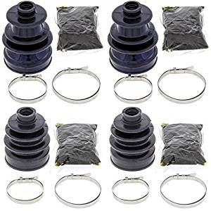 Complete Front Inner & Outer CV Boot Repair Kit for Yamaha YFM700 Grizzly 2009-2015 All Balls
