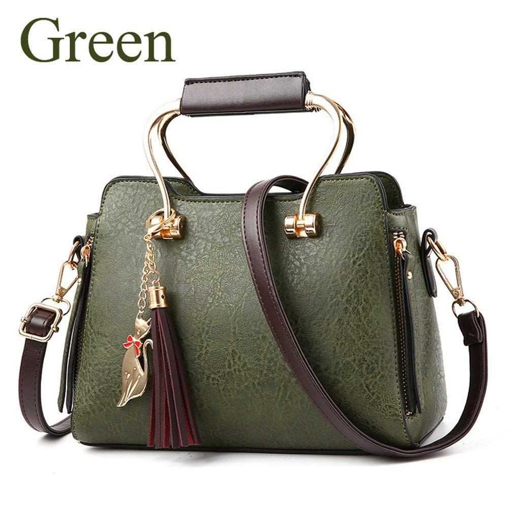 Get Quotations Kcnsj Shoulder Bag Crossbody Female Solid Creative Tide Package Tassel Handbags For Women Brown Leather Fossil