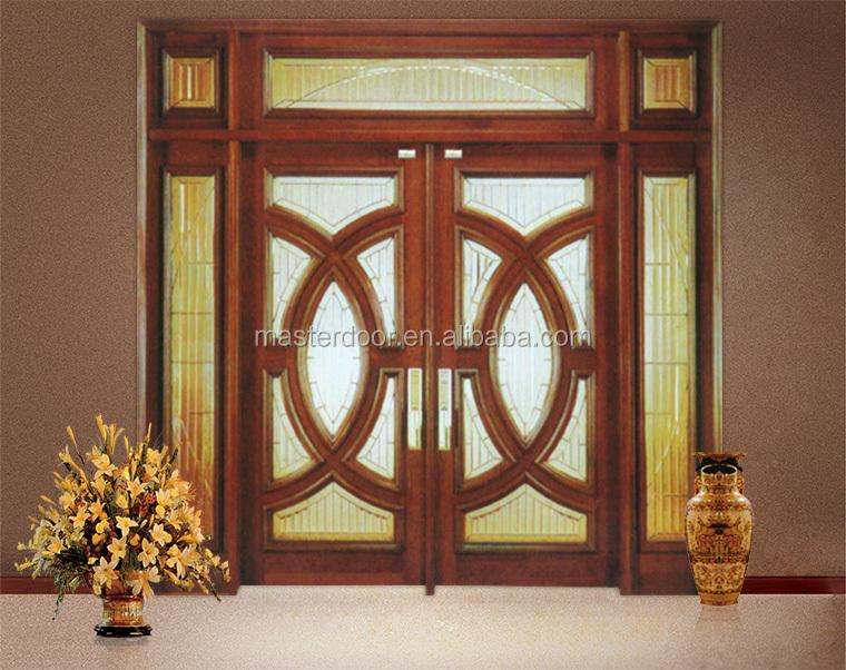 Double swing main entrance wooden door buy main entrance for French doors main entrance
