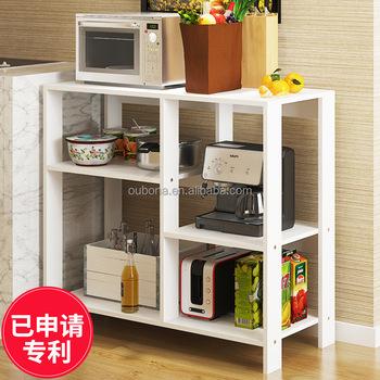 Kitchen Bakeru0027s Rack Utility Microwave Oven Stand Shelf Pot Pan Storage  Cupboard