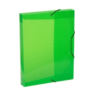 A4 Plastic Translucent Clear Elasticated Document Box File for Filing and Storage