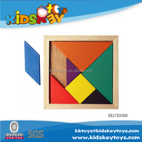 Factory educational wooden puzzle block toys jinsaw puzzle