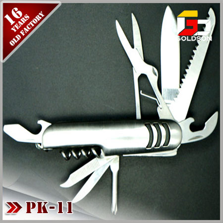 promotional folding multi function pocket knife with 9 accessories
