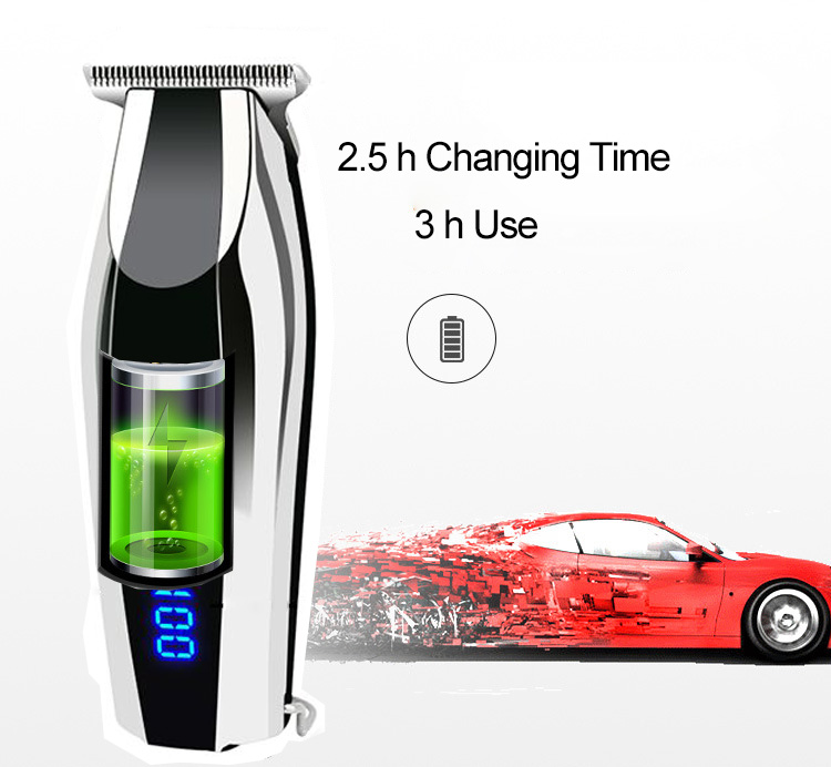Cheap  professional men  beard barber LOGO OEM rechargeable cordless electric hair cut clipper hair trimmer
