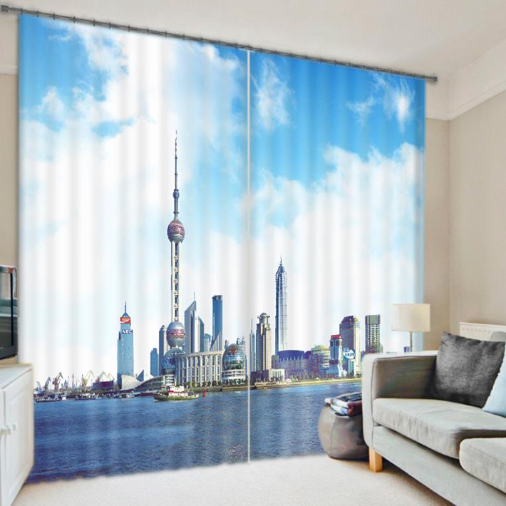Wholesale Luxury Super Quality Custom Living Room 3d Printed Bedroom Blackout Window Curtain