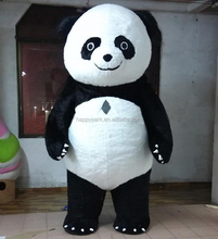 Hot sale 3 meters high inflatable panda mascot costume for advertising