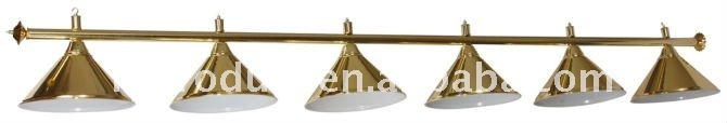 Good quality gold lamp shade/billiard light shape