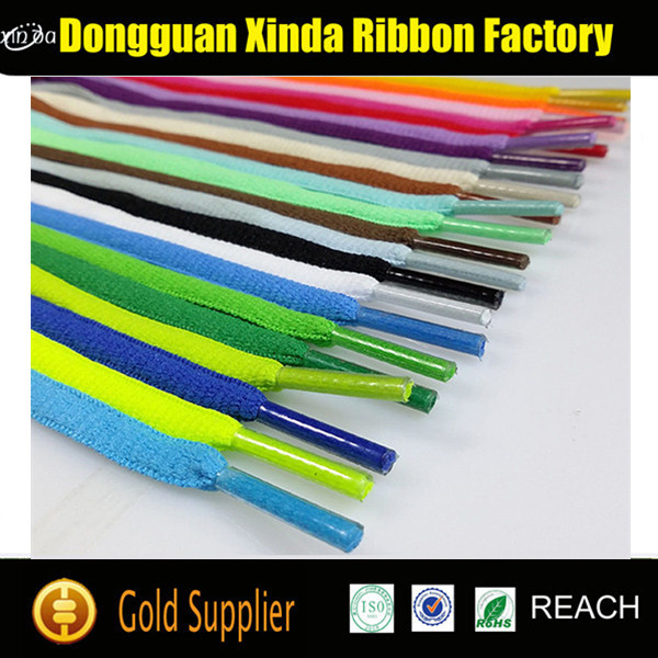 Flat Custom Polyester Shoe Lace Wholesale Shoe Laces Flat
