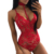 Hot Sale Wholesale Red Sheer Lace Choker Neck Teddy Lingerie Online Shopping For Clothing