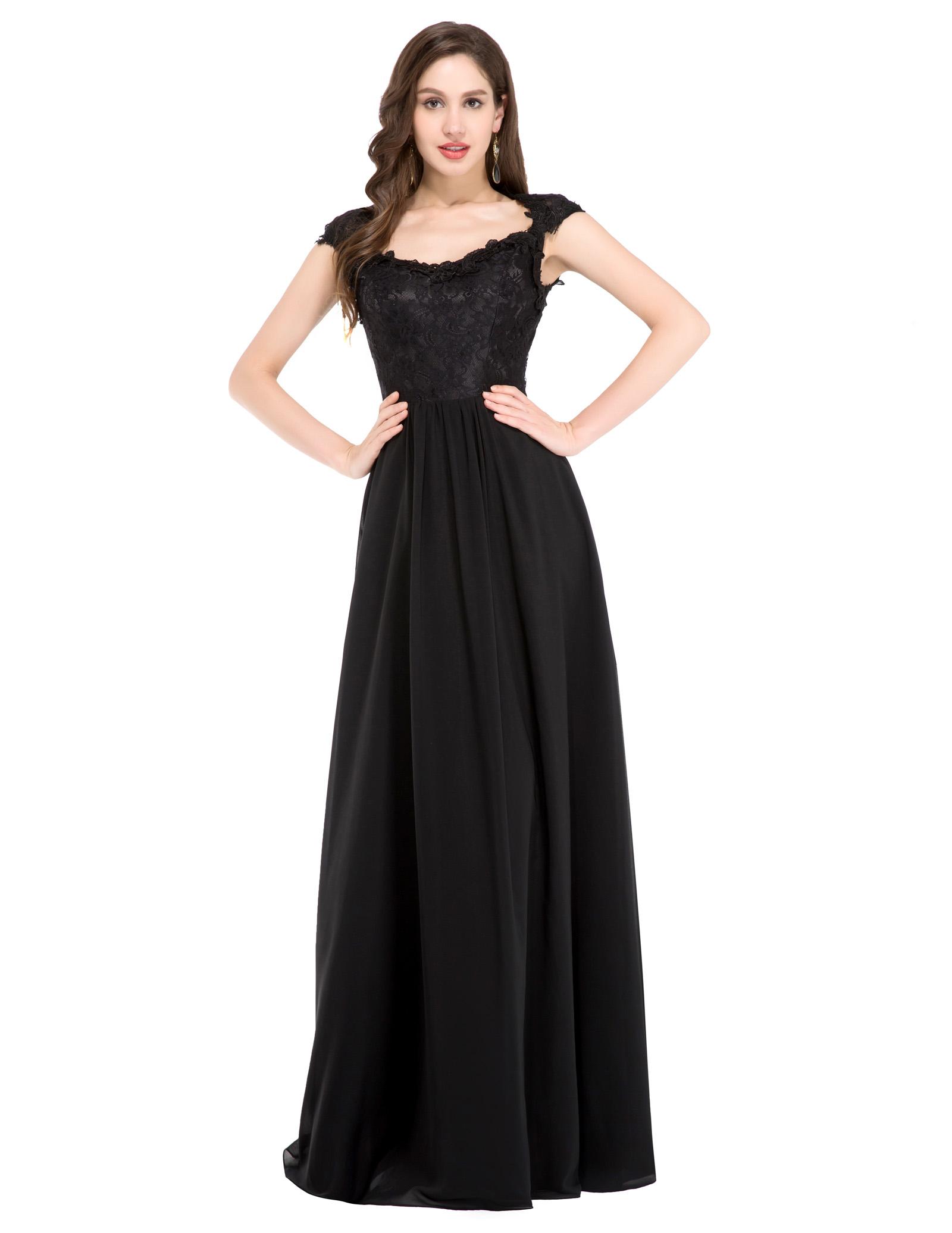 elegant black prom dresses - photo #28