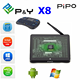 2016 smart Pipo X8 Intel Z3736F Mini PC Tablet 2G 32G hd video free download with dual WIFI Dual OS MINI PC TV BOX