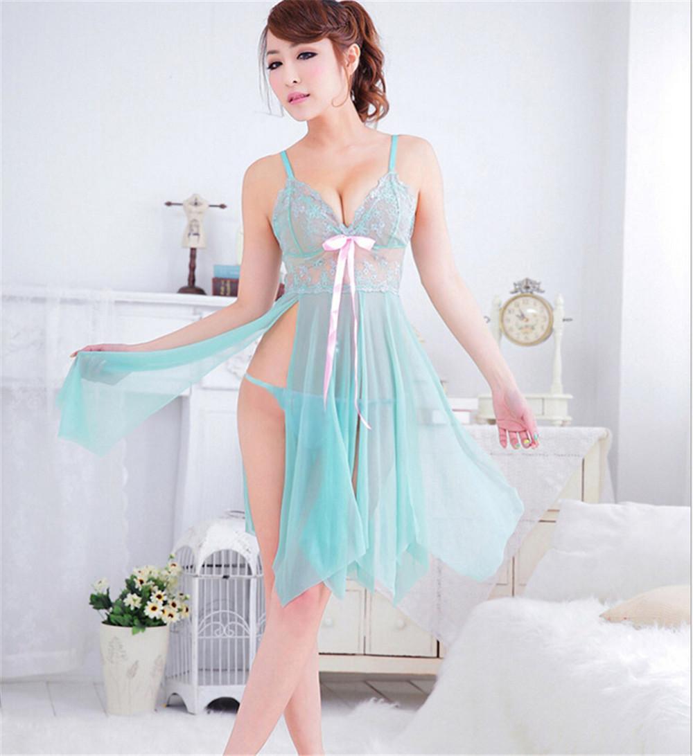 a4b588ee8b8 2019 Wholesale Brand Sleep Dress Women Lace Nightgown Women S ...