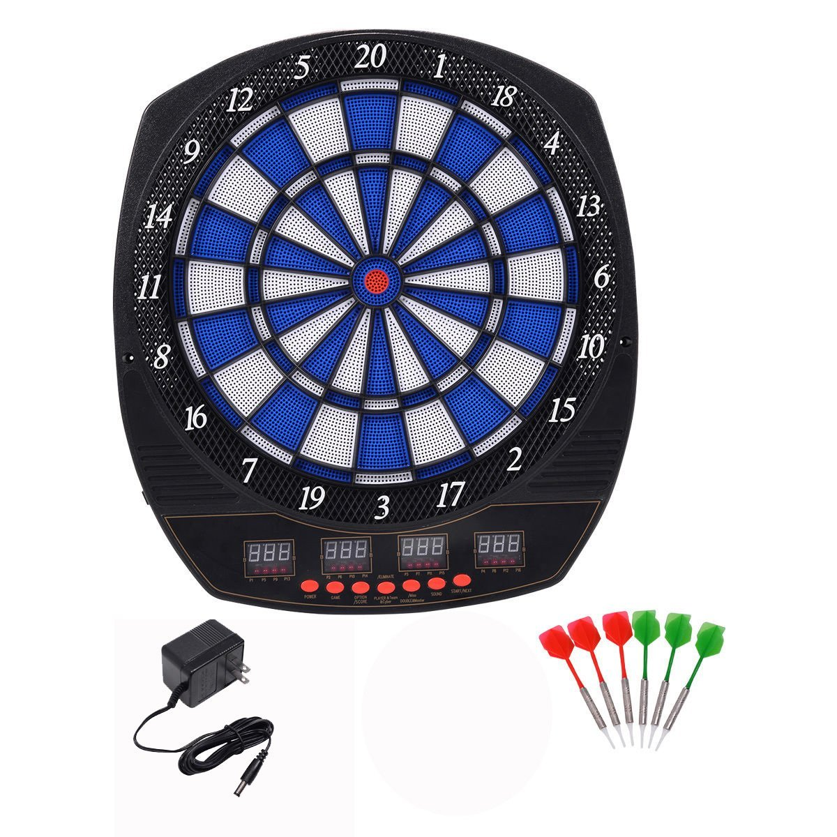 Goplus Arachnid Electronic Dart Board Set Target Dartboard Game Room LED Display w/ 6 Darts