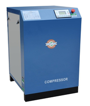 Silent oil free scroll air compressor for high-speed train